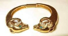 Kenneth J Lane for Avon vintage  Ram Bracelet New York 1960-1965