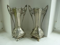 WMF - A pair of Jugendstil vases - Art Nouveau