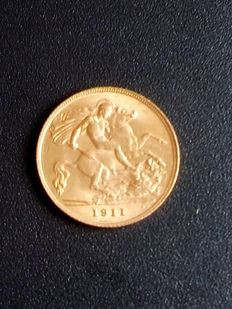 Great Britain – ½ Sovereign 1911 – George V – Gold