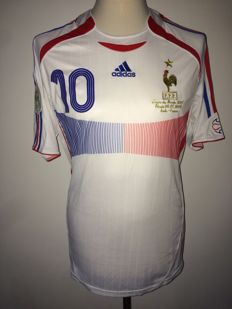 France World Cup 2006 Final shirt; France vs Italy Zinedine Zidane, player version.