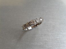 Platinum Diamond Five Stone Ring - 1.50ct - size 53