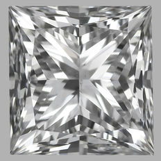 0.41 ct IGI PRINCESS CUT  Brilliant  D SI1  - Serial# 1818-original image 10 x