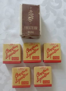 Lot of 6 packs amateurs cigarettes and shag, The Netherlands