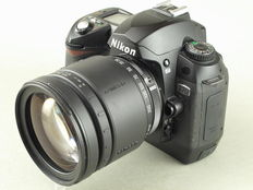 Nikon D70, Tamron AF aspherical LD 28-200/F:3.8-5.6 IF, with accessories.