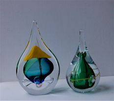 Ozzaro glass - crystal Drop Combination