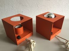 Philips – Two orange cube wall lights