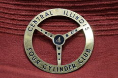 FCCA, 1950, Central Illinois - Grille badge of the Four Cylinder Club of America