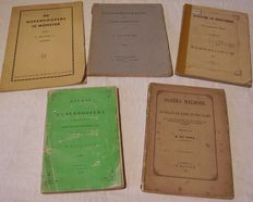 Alternative Christianity; Lot with 5 publications about Anabaptists, Spiritualism and Christianity, fundamental refusal of military service - 1854/1935