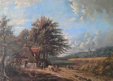 Dutch School - 19th/20th century - Landscape with a farm