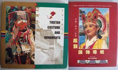 Lot with 2 books about Tibetan costumes and ornaments - 1995/2000.