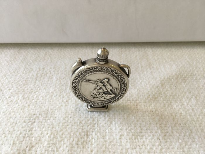Vintage solid Silver Russian perfume bottle