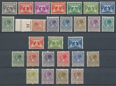 The Netherlands 1926/1930 - Two-sided syncopated perforation - NVPH R19/R31 + R57/R70