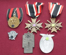 Lot WW II 3rd Reich Order, Ehrenz & Conference Badge