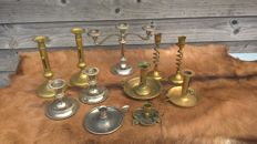 Eleven candlesticks - France - 19th and 20th centuries