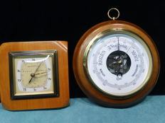 Barigo and Lufft barometer-Walnut/metal--Germany--second half 20th century