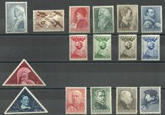 The Netherlands 1934/1936 - Selection of series and stamps