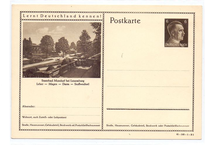 Luxembourg 1940/1945 - German Occupation collection with Letters, Documents and Postcards