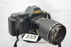 Beautiful Canon T70 camera with 35-105 zoom objective by canon