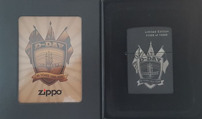 Zippo Limited Edition 65th Anniversary D DAY Normandy 1944 2009 Nr 1555 Of 10000 With Special Box Year NEW