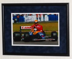 Nigel Mansell origineel gesigneerde foto - Premium Framed + Certificate of Authenticity