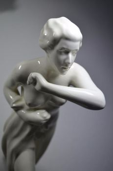Royal Dux Bohemia - Large Art Deco statue