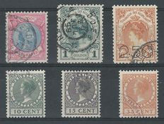 The Netherlands 1893/1924 - Wilhelmina, Clearance and Exhibition - NVPH 47, 49, 104, 136/138