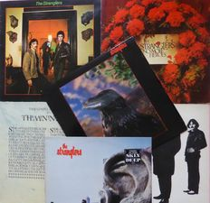 Six albums by The Stranglers; Rattus Norvegicus, No More Heroes, The Men in Black, Black and White (+ white single), The Raven and Aural Sculpture