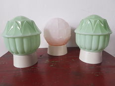 Art Deco style ceiling lights, Thabur, a set of three. First half of 20th century