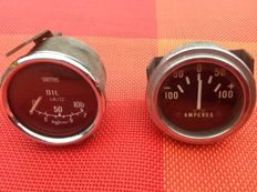 Dashboard meters from the period 1950s-1960s