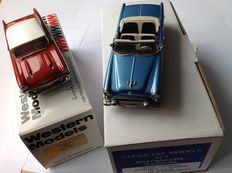 Conquest Models / Western Models - Schaal 1/43 - Oldsmobile Starfire 98 - 1954 & Chevrolet Bel-Air - 1957