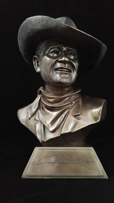 Bust of John Wayne  -  The man, the Legend - with certificate of authenticity