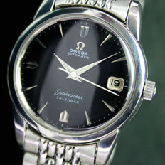 Omega Seamaster Calendar Automatic Date Steel Mens Watch Rice Bead Band