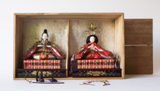 Very fine hina-ningyō pair of dolls.