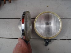 Two nice BOSCH spotlights with a diameter of 160 mm and chromed casing from the 1970s/1980s