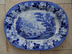 Wedgwood Blue Rose Border Meat Plate - 51 x 39 cm