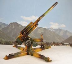 Lineol - Germany - length 32 cm - tin artillery - manually operated - 1930s-40s