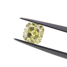 Natural Y-Z 1.24 ct. VS2 cushion shape Diamond, GIA certified