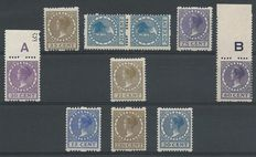 The Netherlands 1893/1924 - Selection syncopated perforations