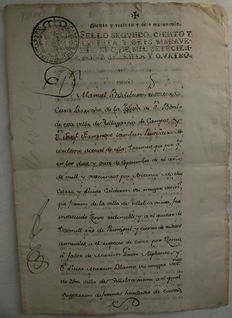 Documento manuscrito Villagarcía de Campos, Valladolid - 1774