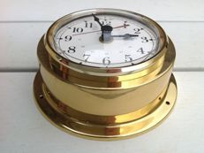 Ship's clock in brass housing - Junghans Germany