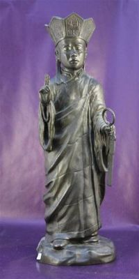 Bronze statue representing a monk - China - 2nd half of the 20th century