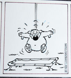 Dupa - Original Strip in India ink - Cubitus - (1991)