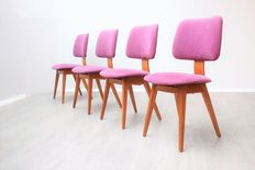Unknown designer – set of four vintage chairs.