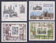 Spain, years: 1950-1979 and 2006-2009 - Collection containing complete years and individual ones, plus 7 official proofs.