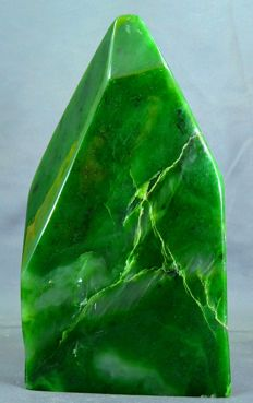 Hand-crafted, premier quality Nephrite tumble - 210 x 114 x 38 mm - 1438gm