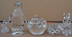 Swarovski - Seated mini and medium fox - penguin - hedgehog - birds nest