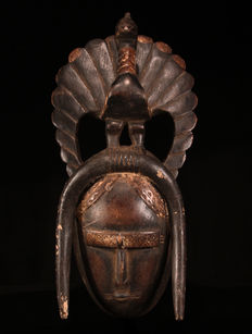 Peacock Mask - LIGBI - Ivory Coast
