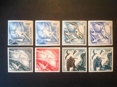 Monaco 1955 - Air Mail - Yvert #55/58  –  2  Series,  serrated and range of colours