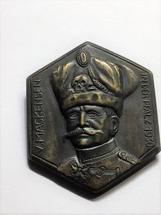 WW II Sheet metal badge von Mackensen in Palatine, Germany 1930