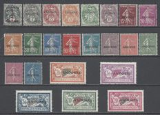 France Andorre - Timbres 1900-27 surcharges   - Yvert 1/23